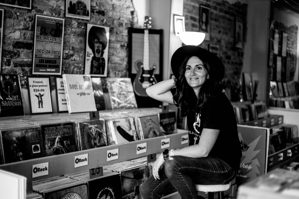 Alisha_Record_Store_Shoot_Nov_2018_BW_8