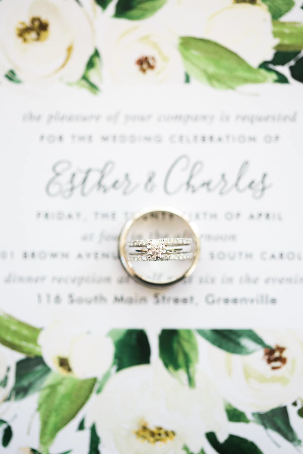 Greenville  Wedding Photographer, detailed ring shot
