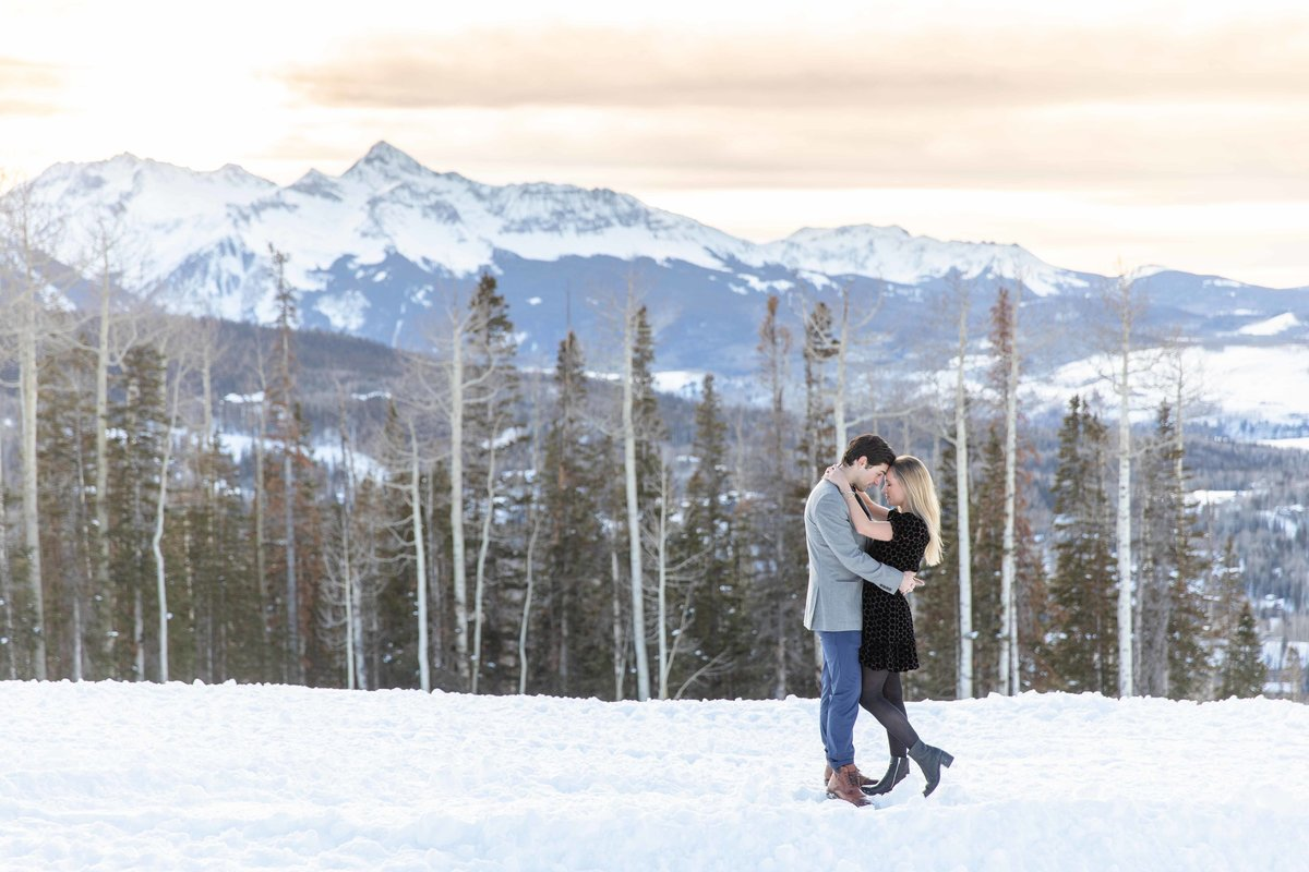 telluride engagement photo
