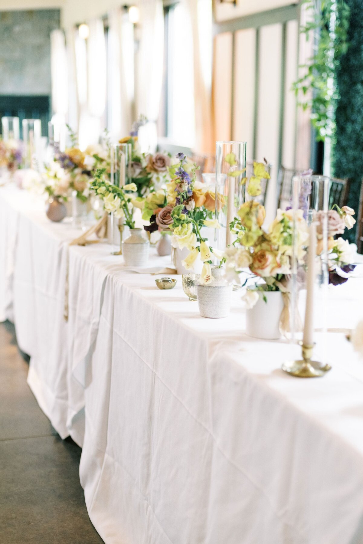 The Day's Design Northern Michigan Florist Head Table-min