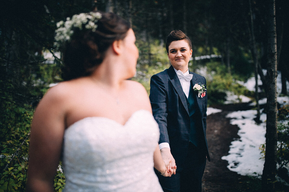 Same sex wedding in Banff - Banff Wedding Planner