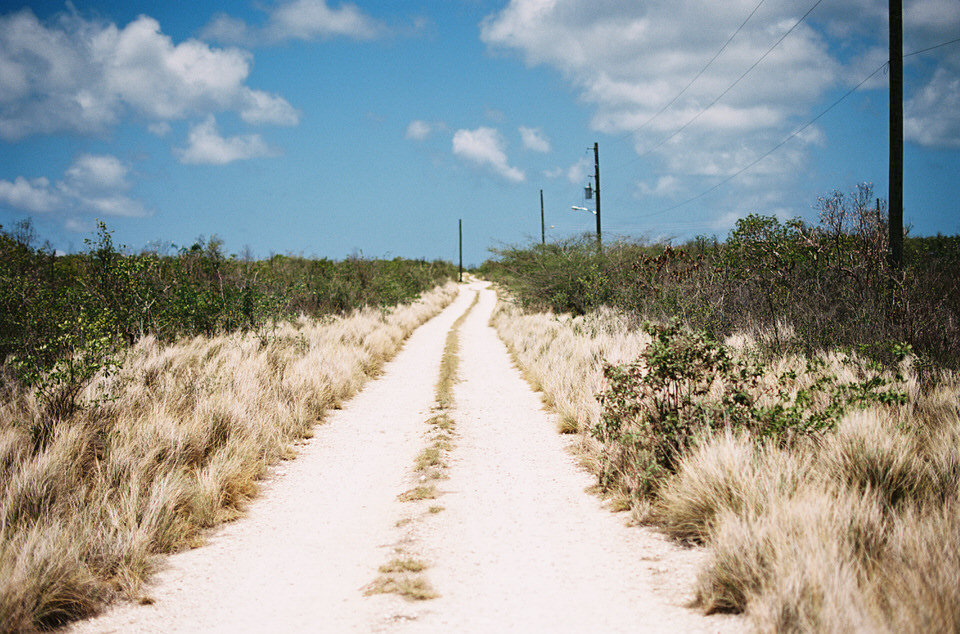 sandy road in anguilla