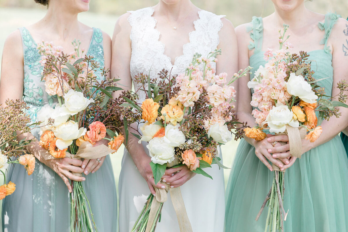 Sarah+Titos Summer Charlottesville VA Wedding Bridesmaid Bouquets-2085