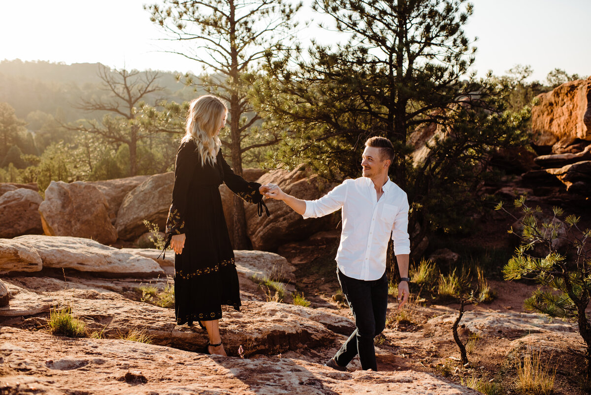 Sunrise engagement session at Garden of the Gods - Randy and Ashley Studios - Ben and Rachel-99