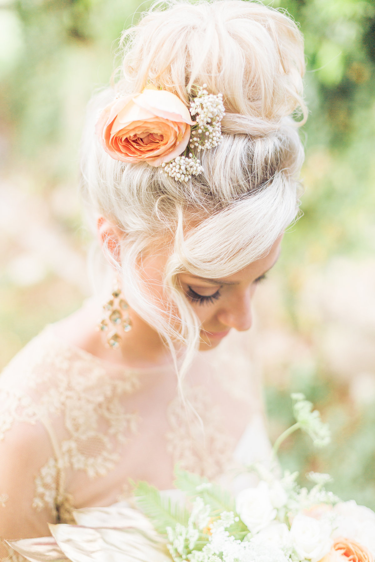 Maui wedding updo photo