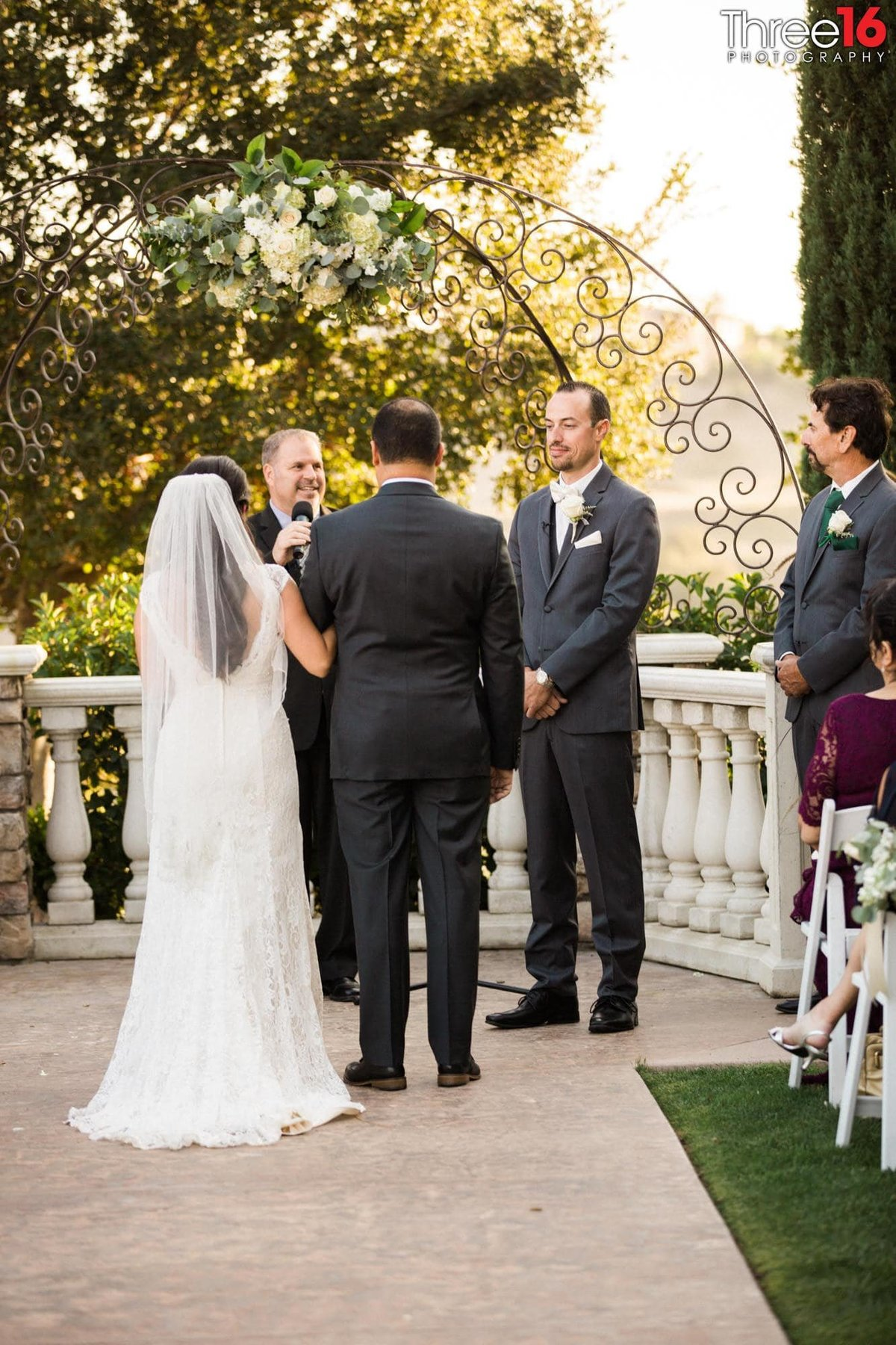 Wedding  Ceremony taking place at Wedgewood Vellano Country Club in Chino Hills, CA