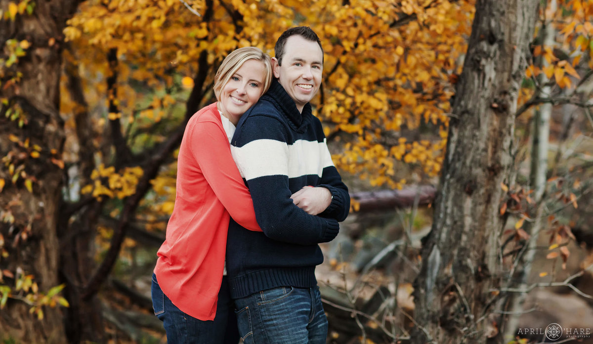 Estes Park Colorado Fall Engagement Photography
