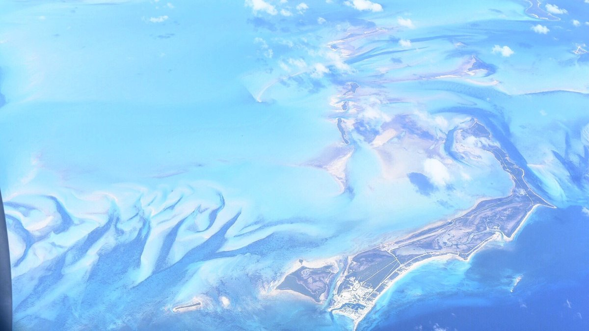 View of the Bahamas from the air