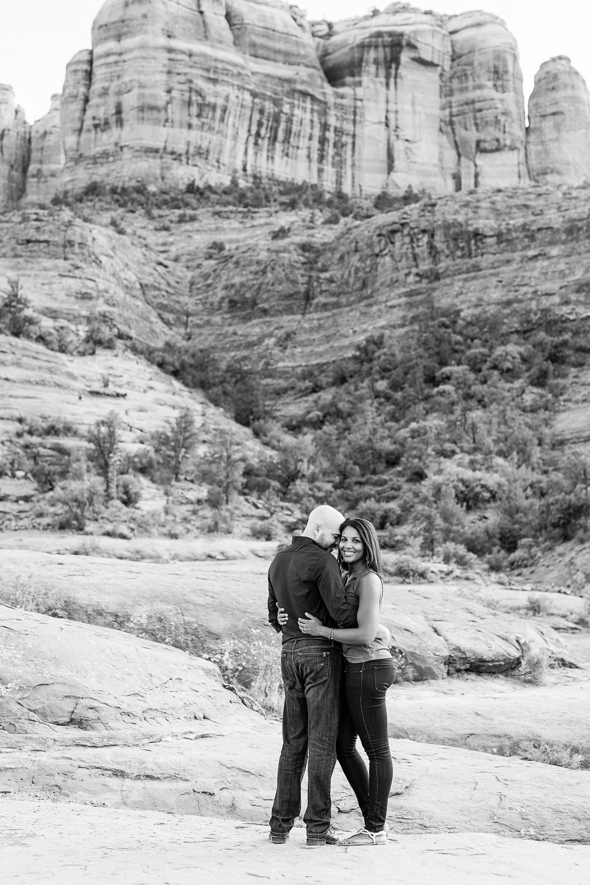 Monica + Austin - Sedona Engagement Session - Cathedral Rock - Lunabear Studios_0185