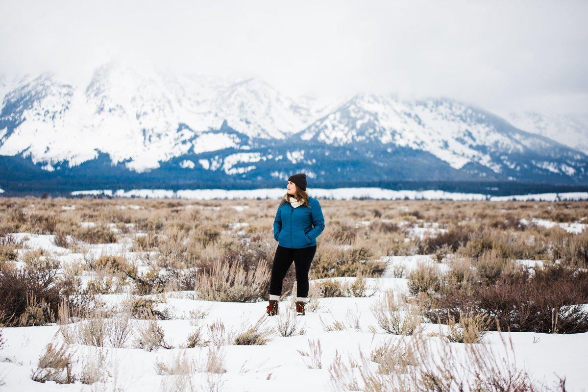 Adventure elopement wedding  photographer Julie Haider enjoys Grand Teton National Park