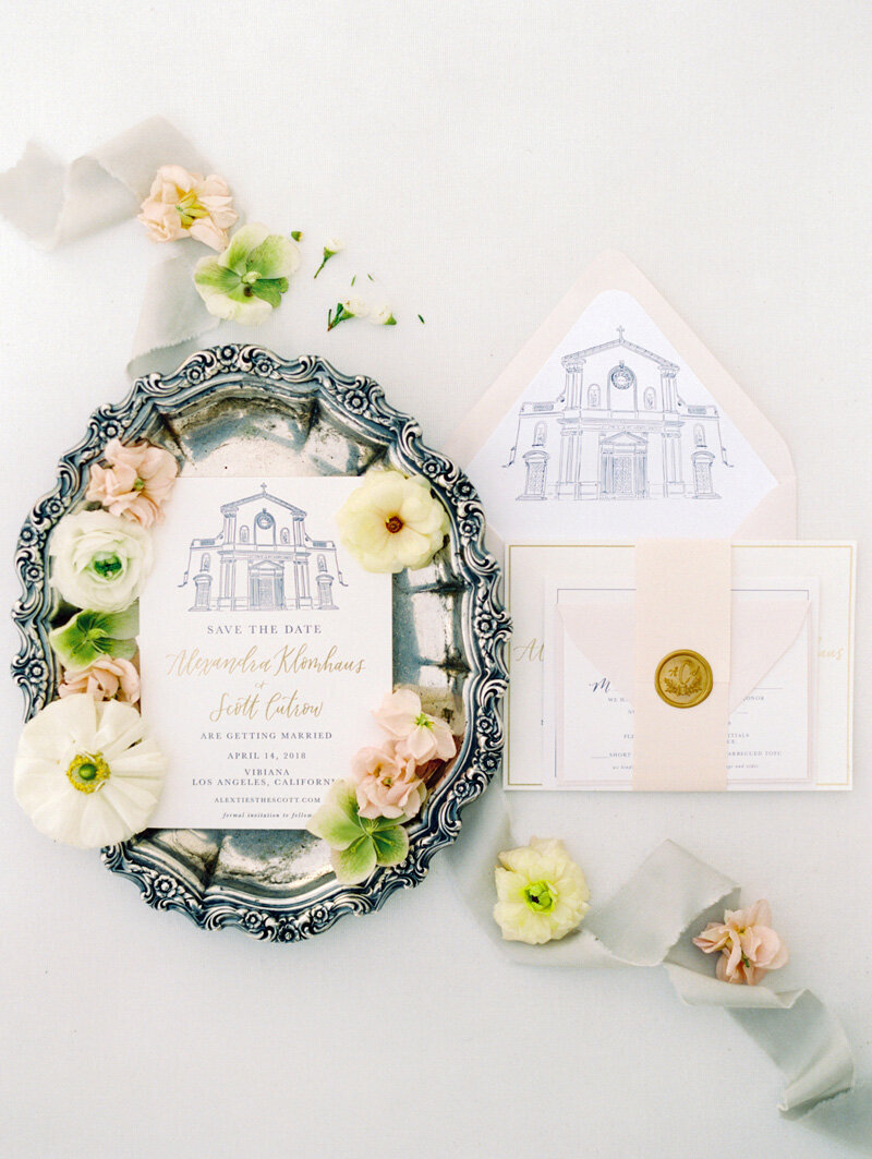 pirouettepaper.com | Wedding Stationery, Signage and Invitations | Pirouette Paper Company | Vibiana Downtown Los Angeles Wedding | Mallory Dawn Photography_ (19)