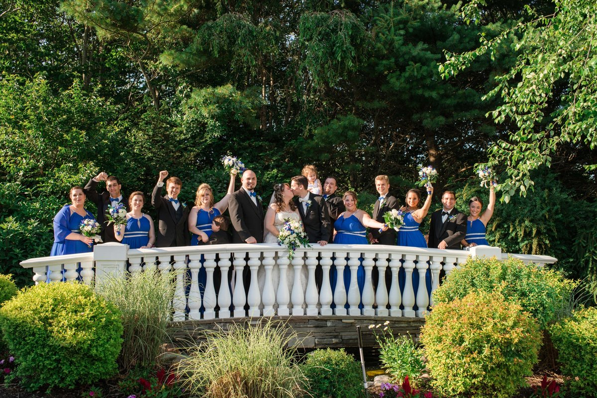 Bridal party photos at Giorgio's Baiting Hollow