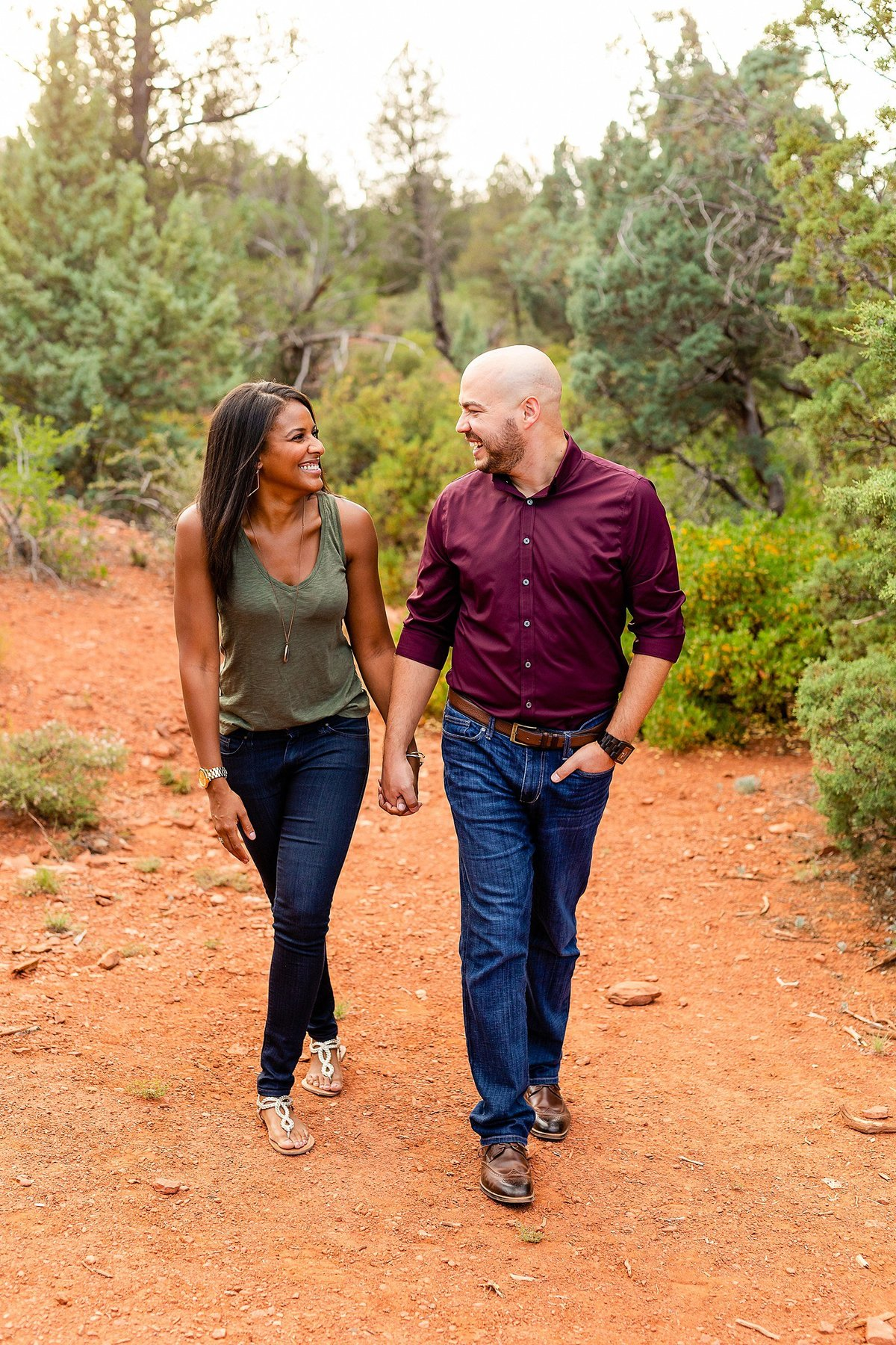 Monica + Austin - Sedona Engagement Session - Cathedral Rock - Lunabear Studios_0182