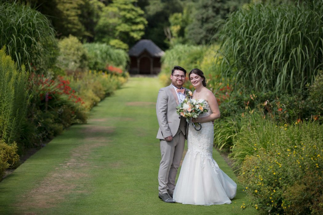 Bride and Groom at Bovey Castle summer wedding