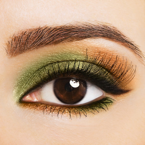 green and copper eyes
