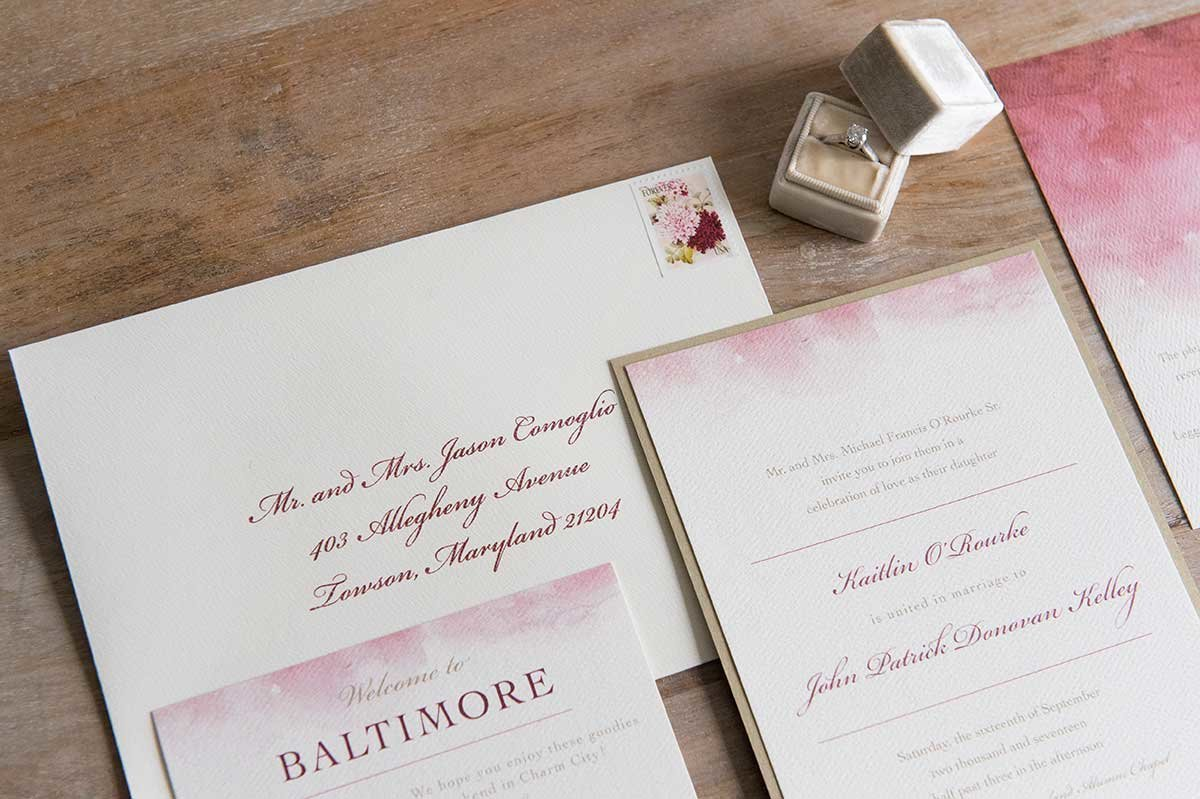Kaitlin-BaltimoreSkyline-InvitationEnvelope-Watercolor-LeggMason.
