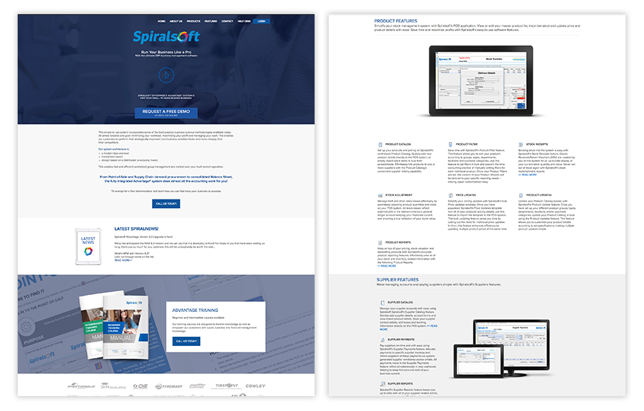 spiralsoft website previews