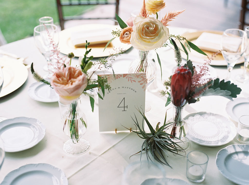 boho wedding table greenville country club