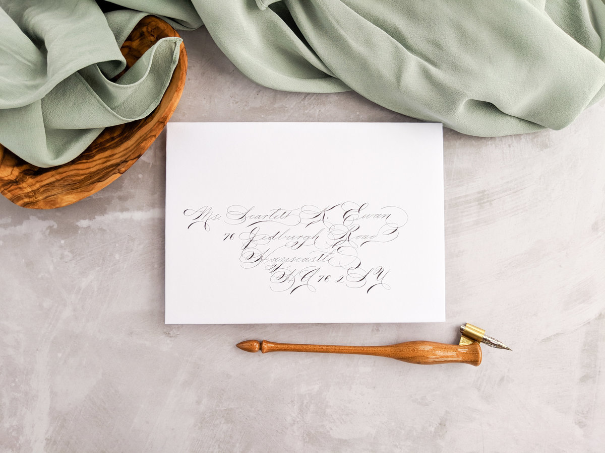 Spencerian envelope calligraphy
