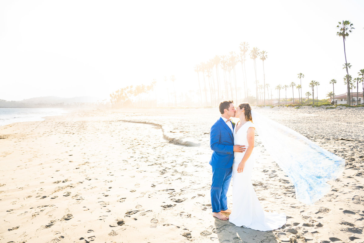 Bride-Groom-Santa-Barbara-Beach-Wedding