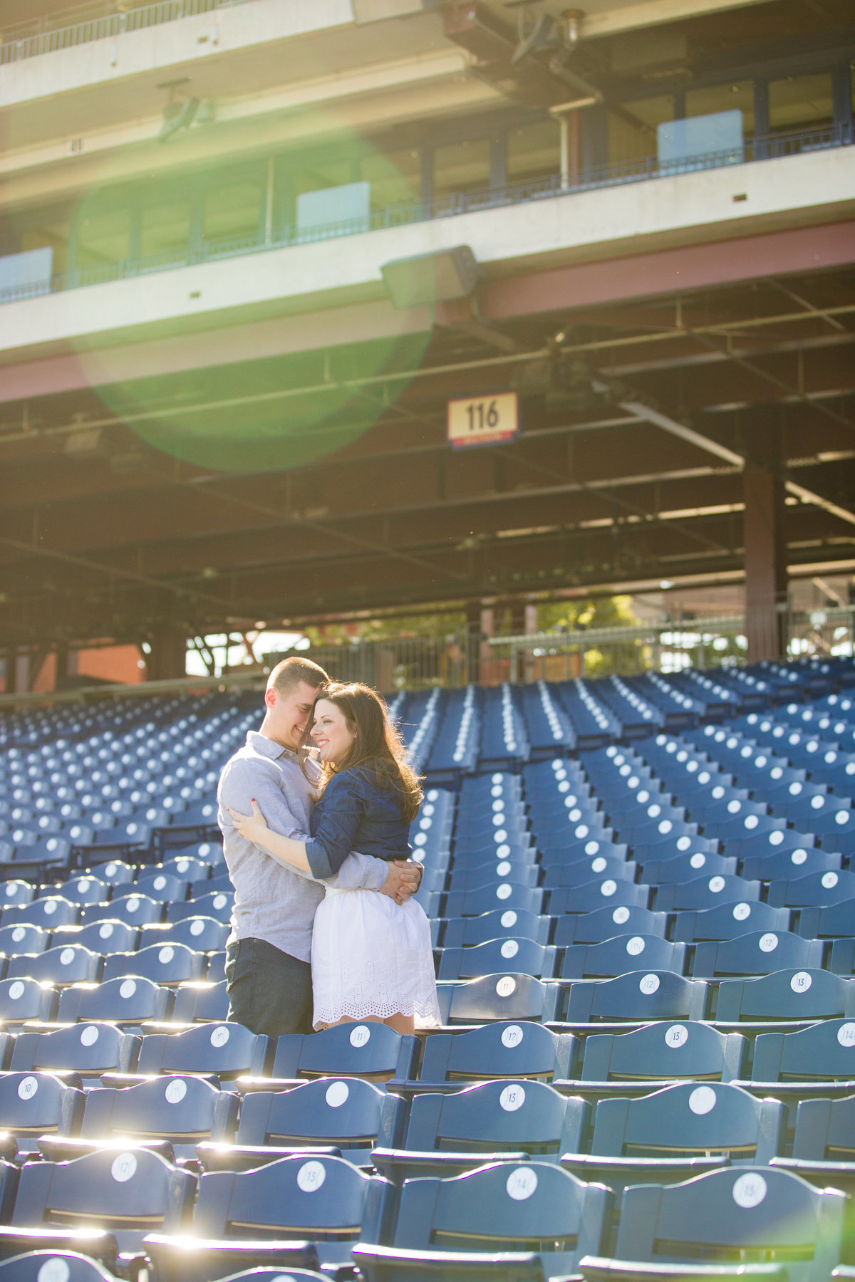 Couple at the Philadelphia Phillies Stadium at Citizens Bank Park