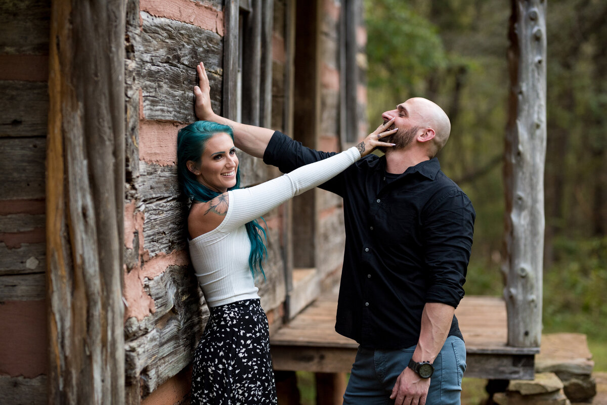 engaged-couple-funny-portrait