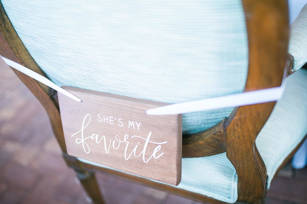 wedding sign chair sign calligraphy-1