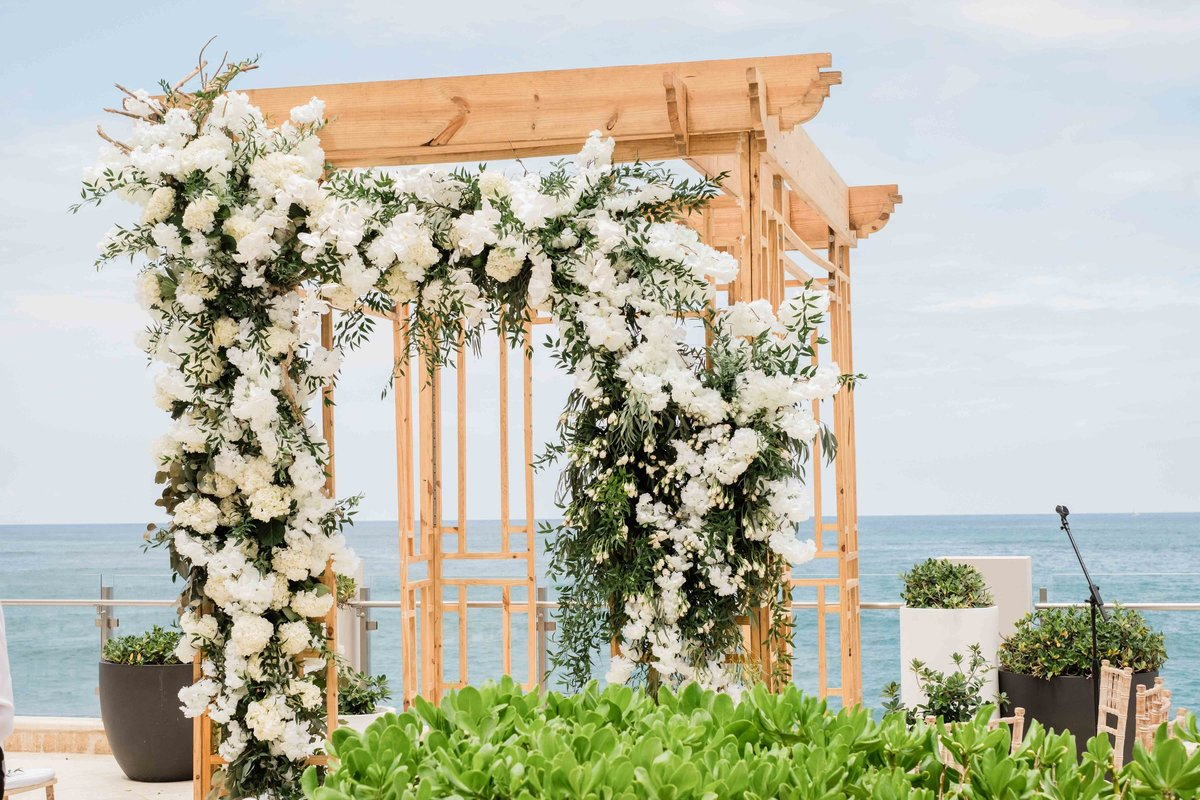 ceremony canopy with flowers