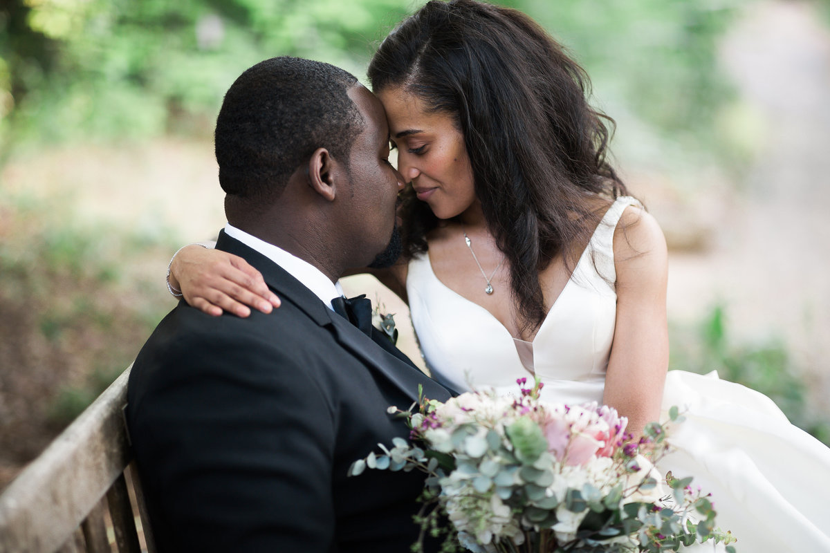Best NC Wedding Photographer at Coker Arboretum in Chapel Hill, NC