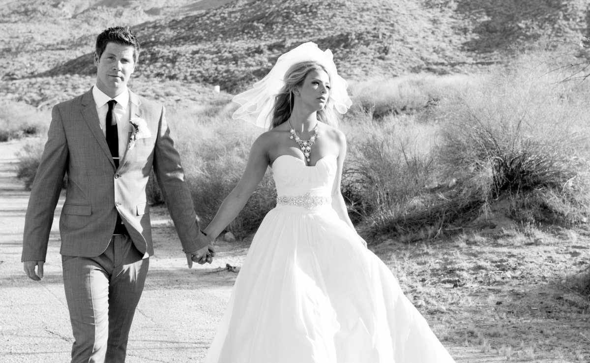 Palm Springs Bride and Groom