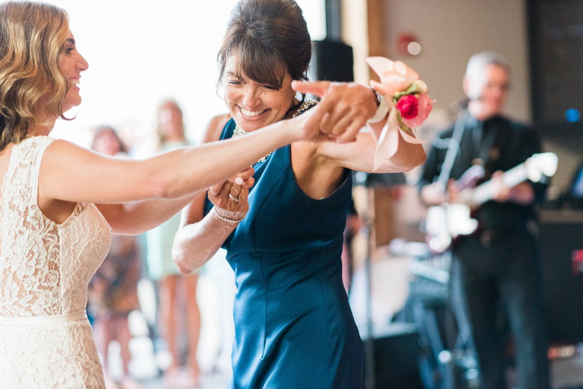Mother and daughter first dance