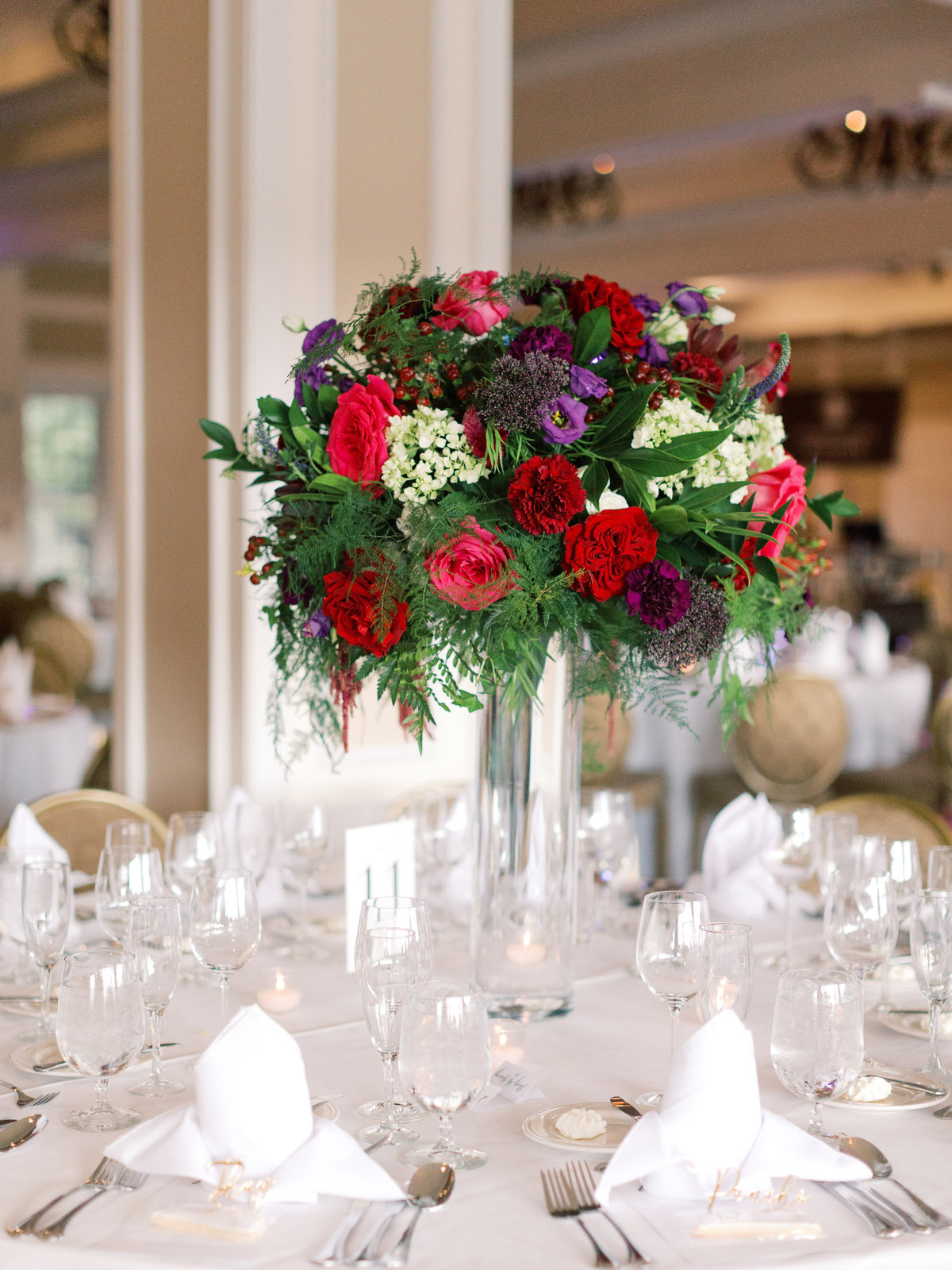Jewel tone wedding at the Country Club of Fairfax