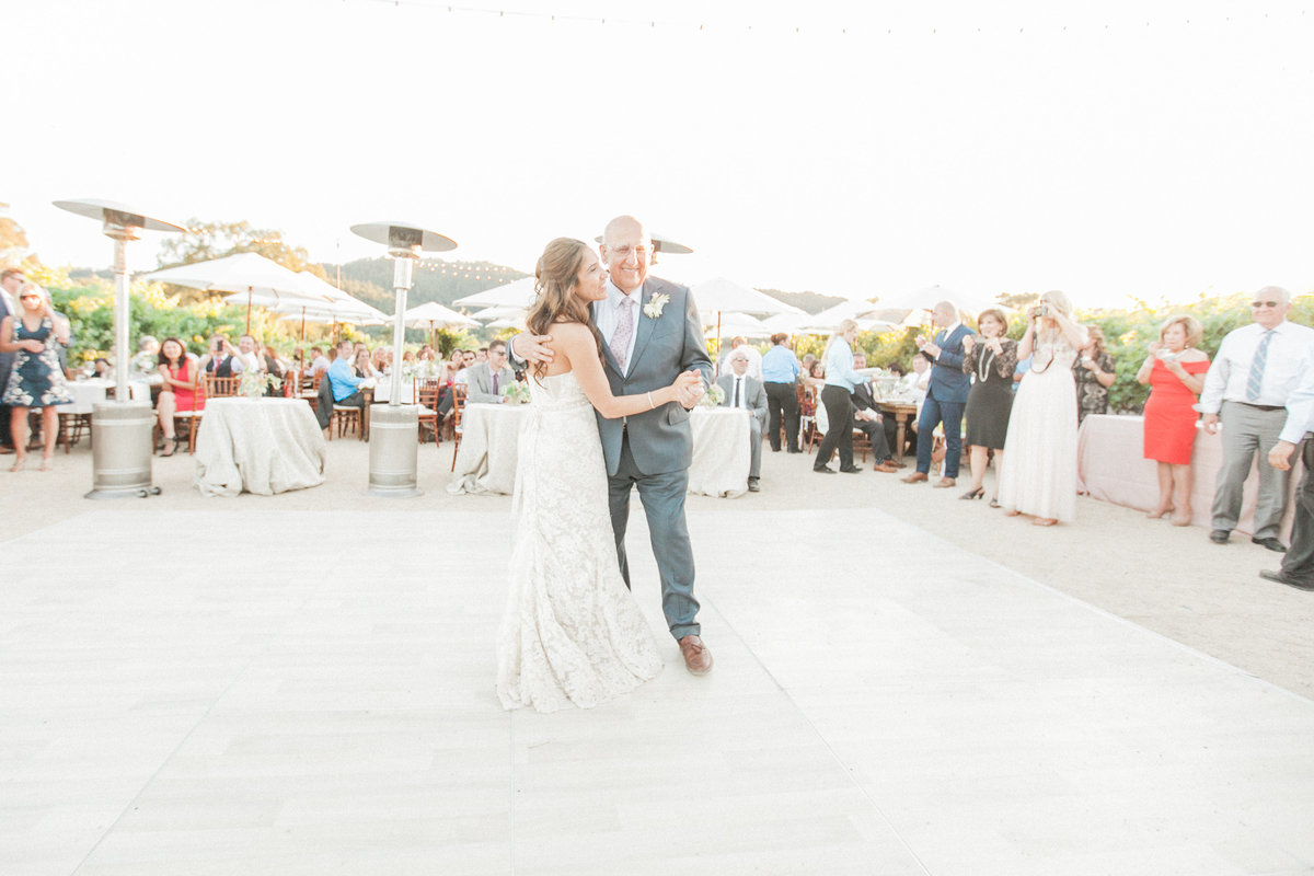 Father Daughter Dance Outdoor Wedding