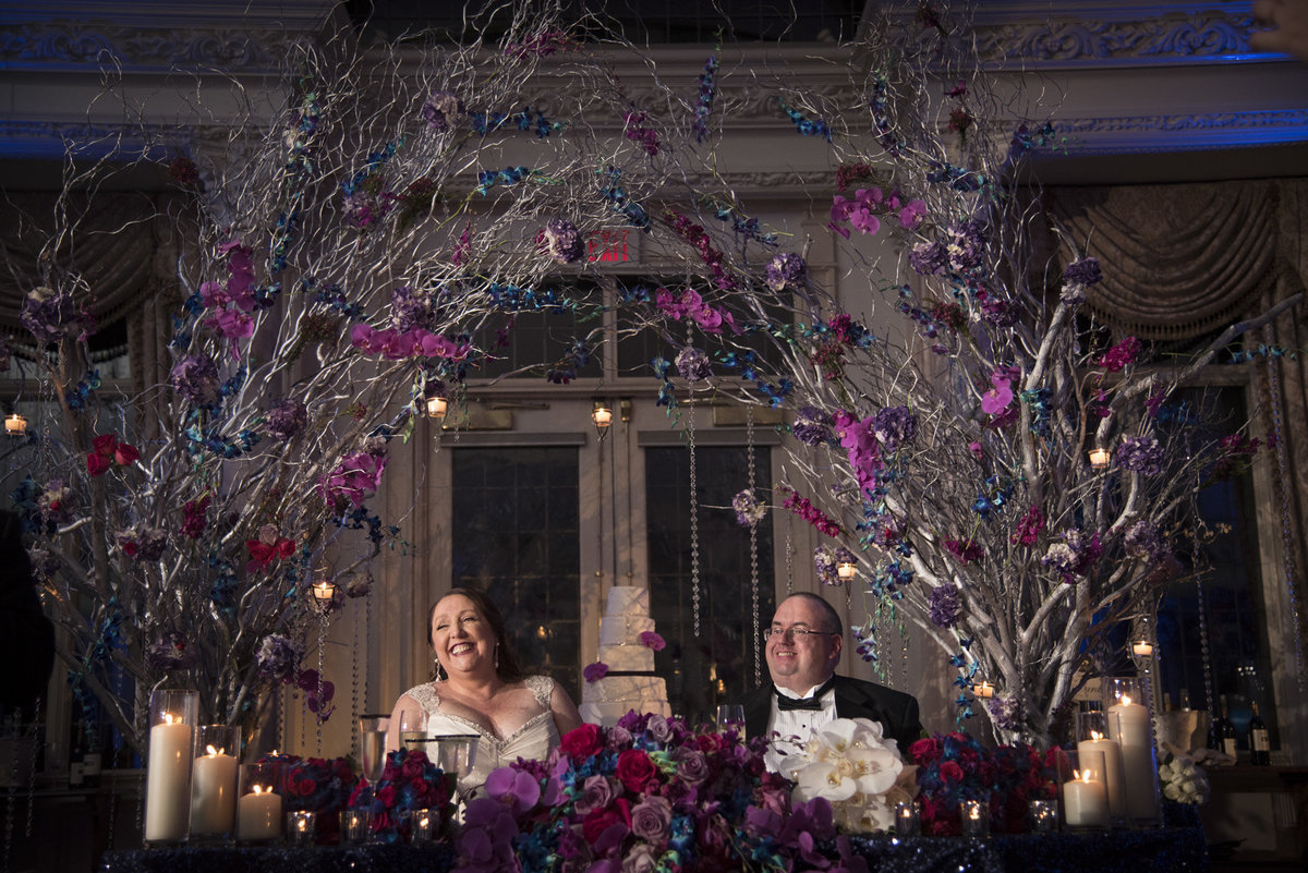 Pleasantdale Chateau Luxury NJ Wedding Purple Blue Pink Silver 20