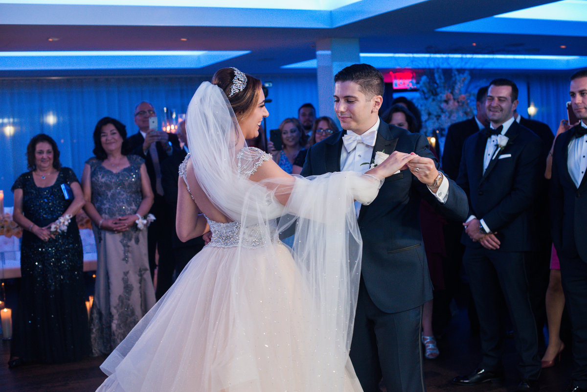Bride and groom's first dance at Harbor Club at Prime