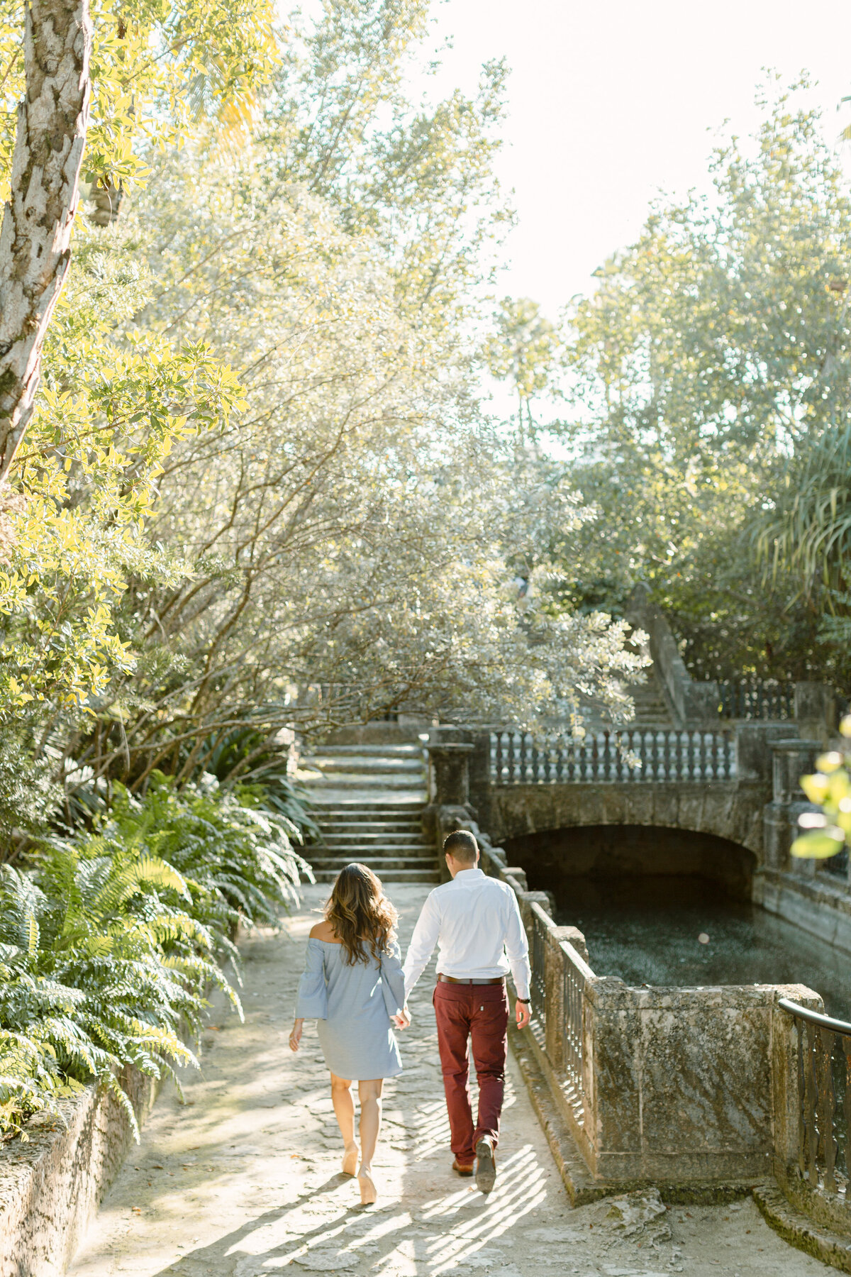 Vizcaya Museum Engagement Photography Session 26