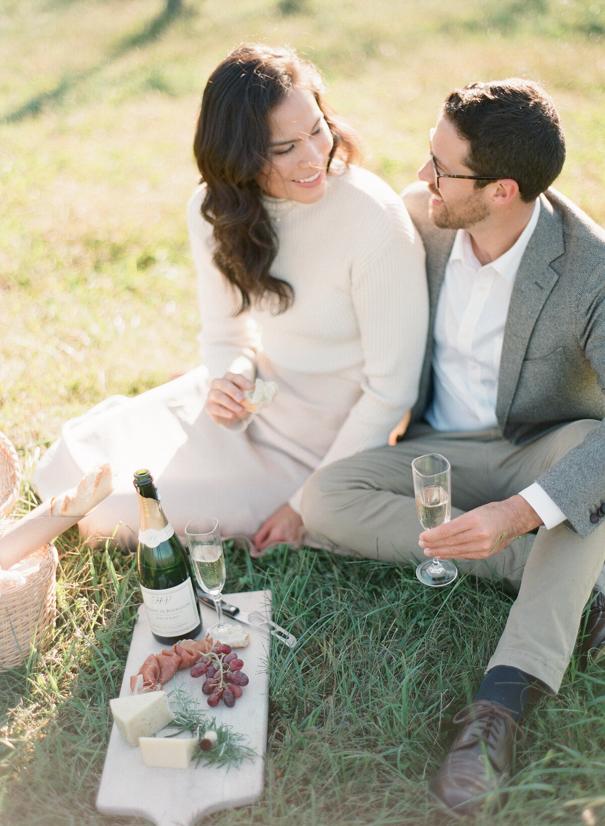 French Vineyard Engagement Photography at The Meadows in Raleigh, NC 16
