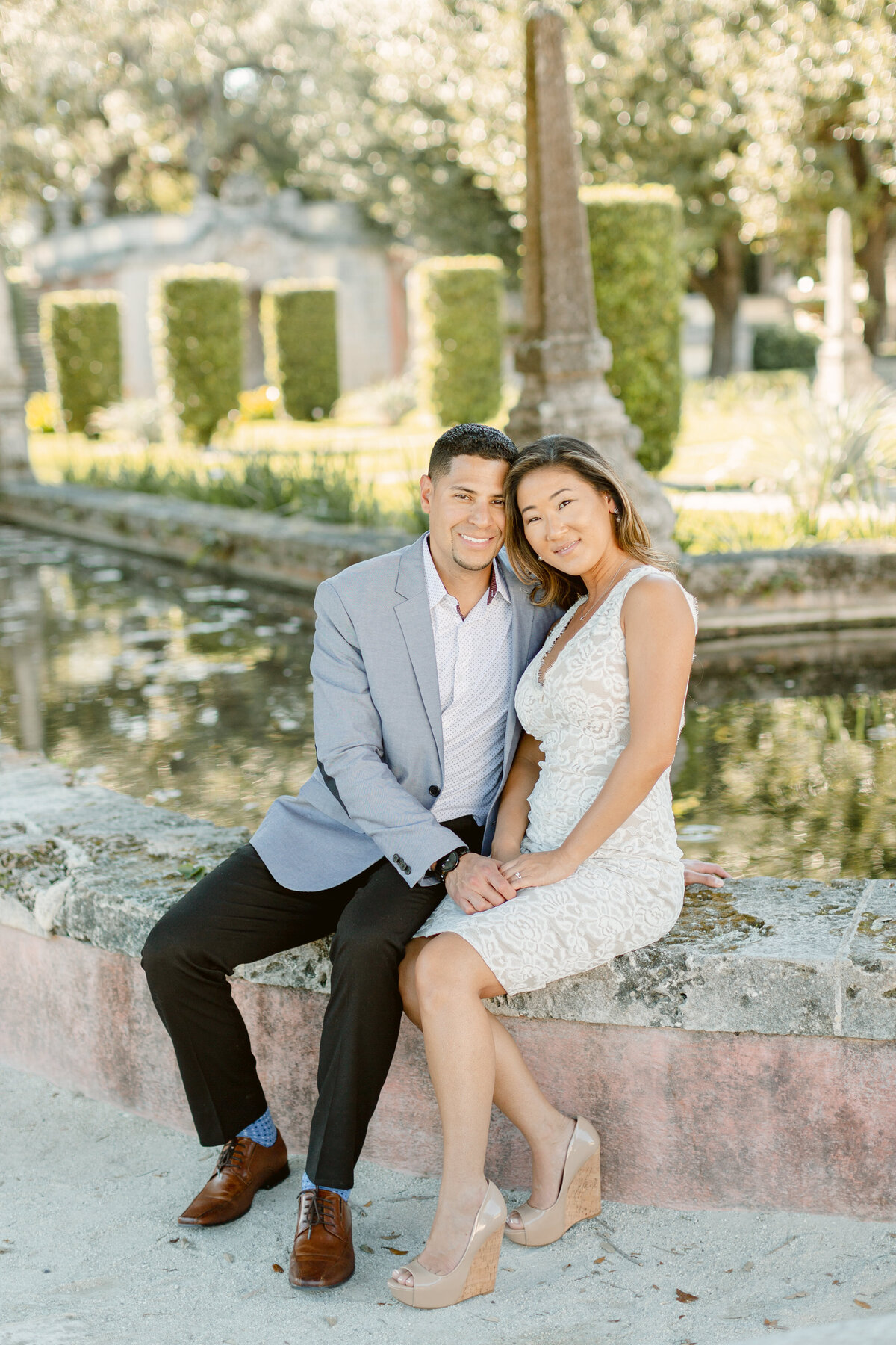 Vizcaya Museum Engagement Photography Session 9