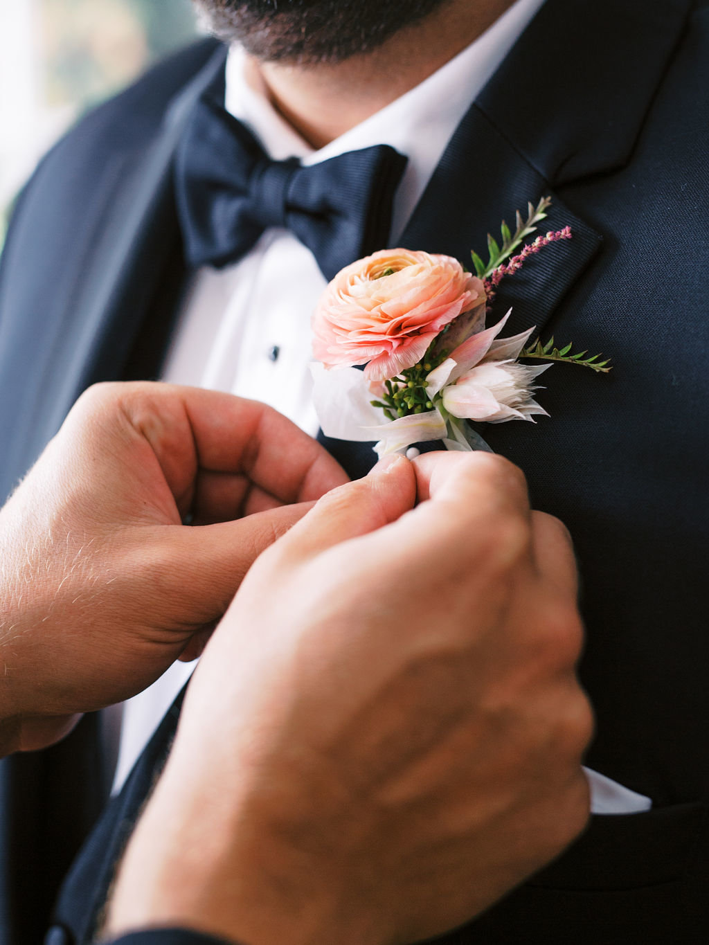 boutonniere groom greenville country club