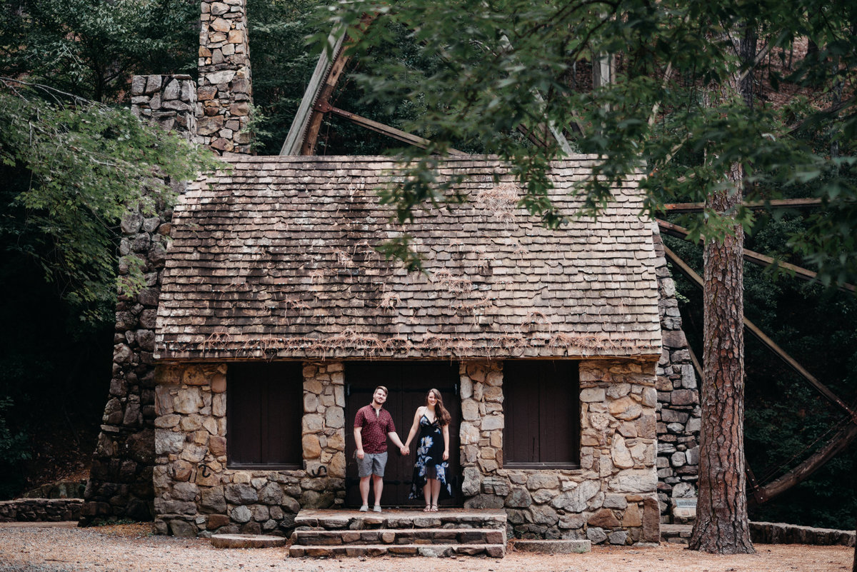 Berry College Engagement Photography at the Tallest Waterwheel