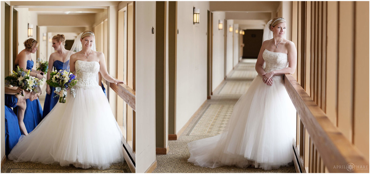Keystone Colorado Wedding Photography  in Hotel hallway