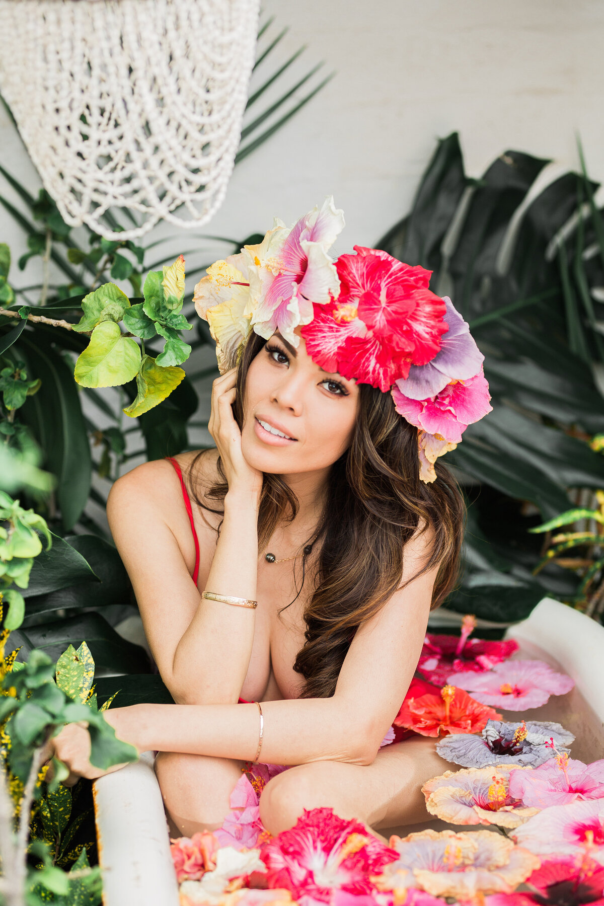 San Diego Floral Tub Session Vanessa Hicks Photography