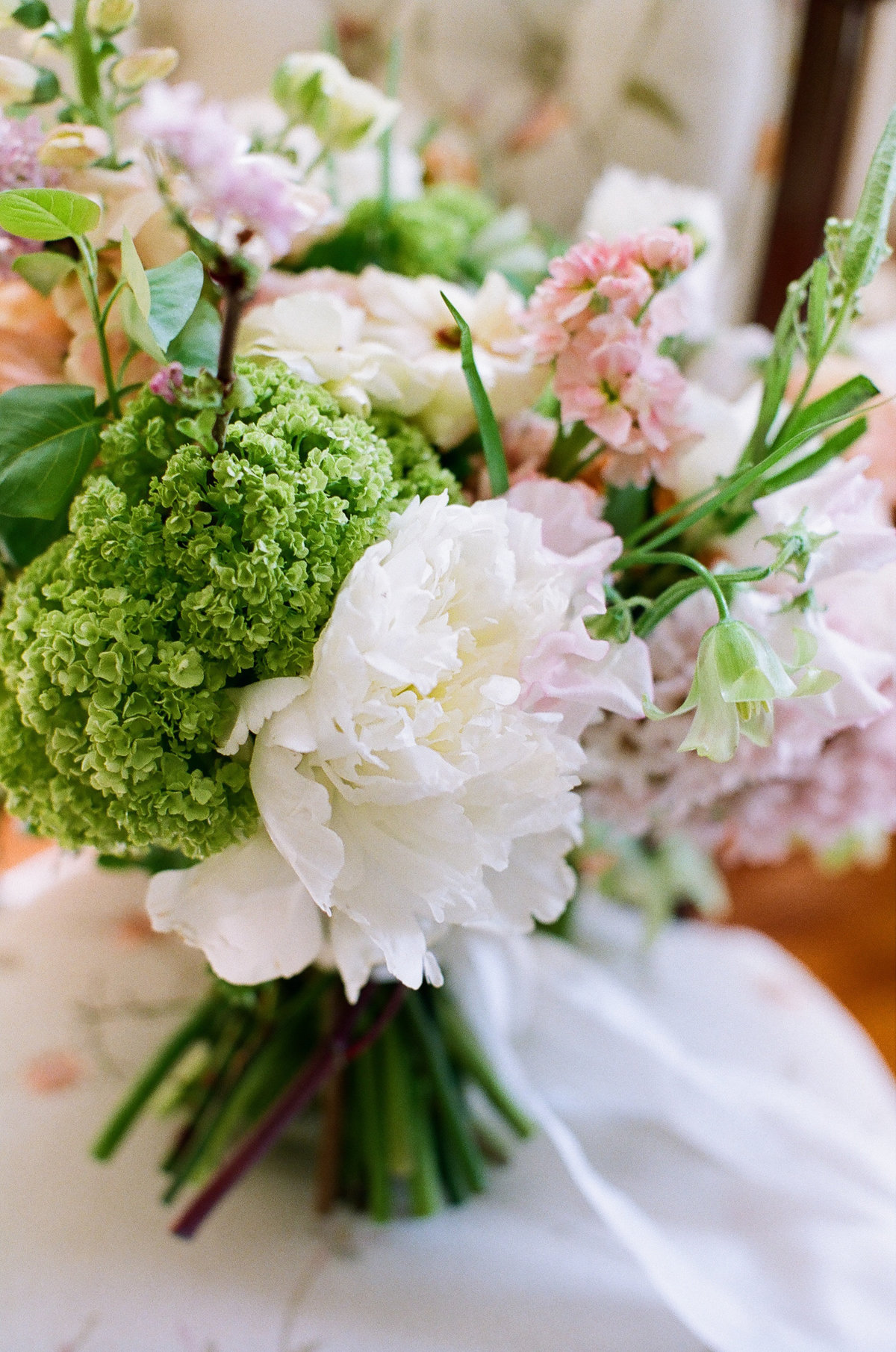 White Peony in Wedding Bouquet