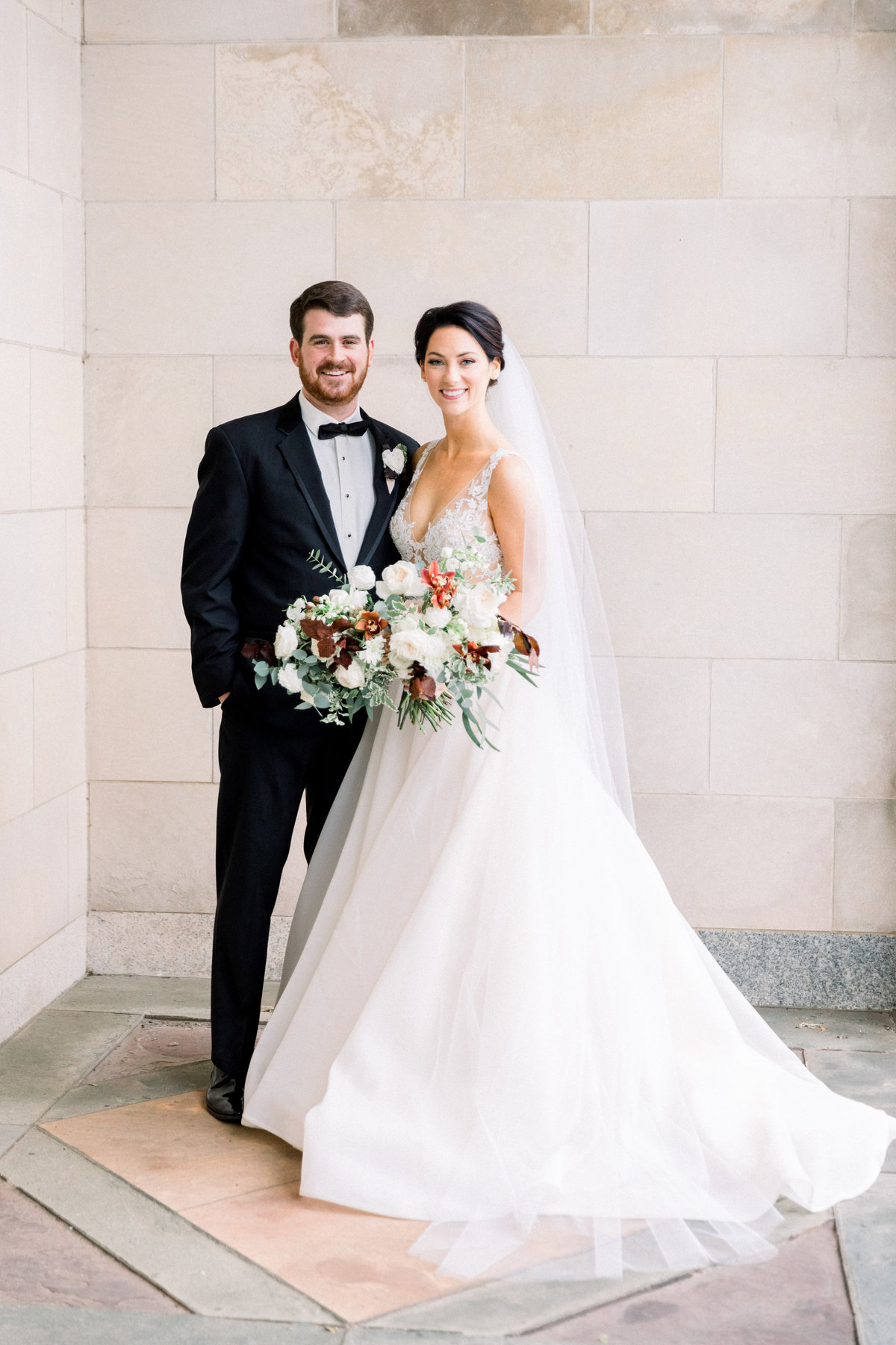 Bride and Groom Wilmington Delaware Winterthur Wedding Florist