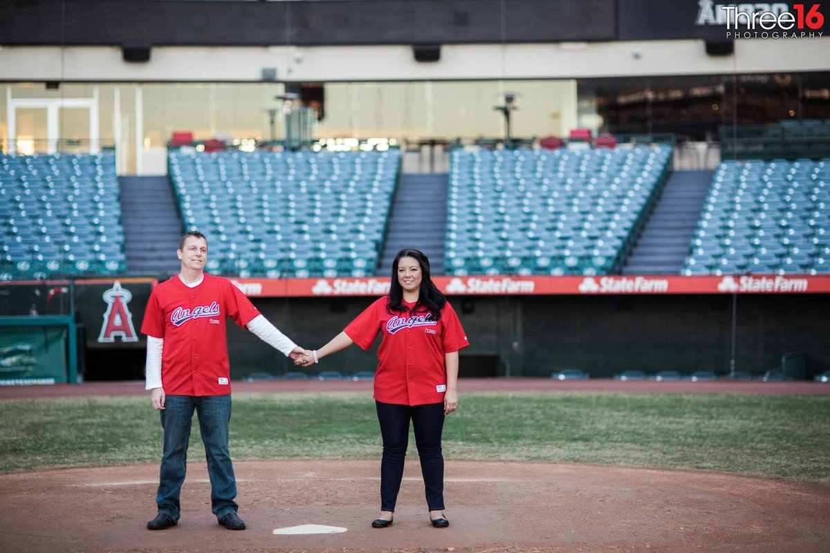 Angel Stadium Engagement Photos