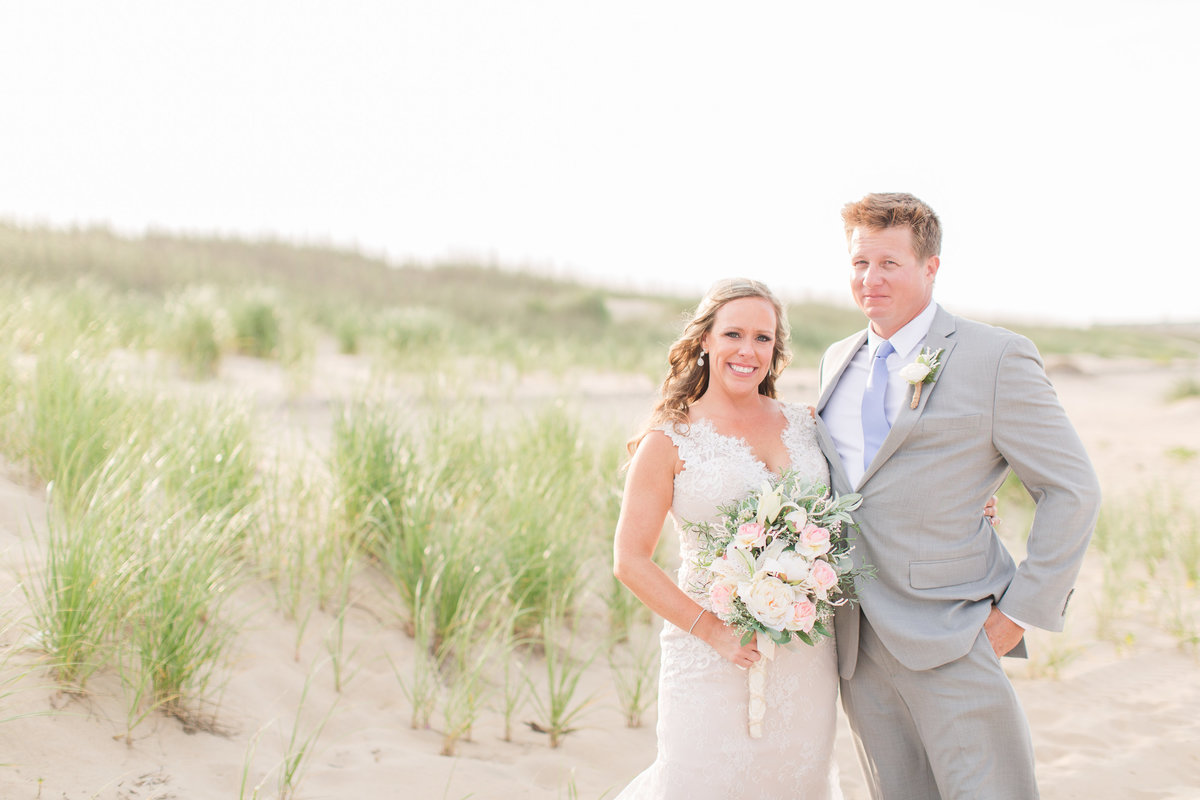 Summer beach wedding in Virginia Beach, VA
