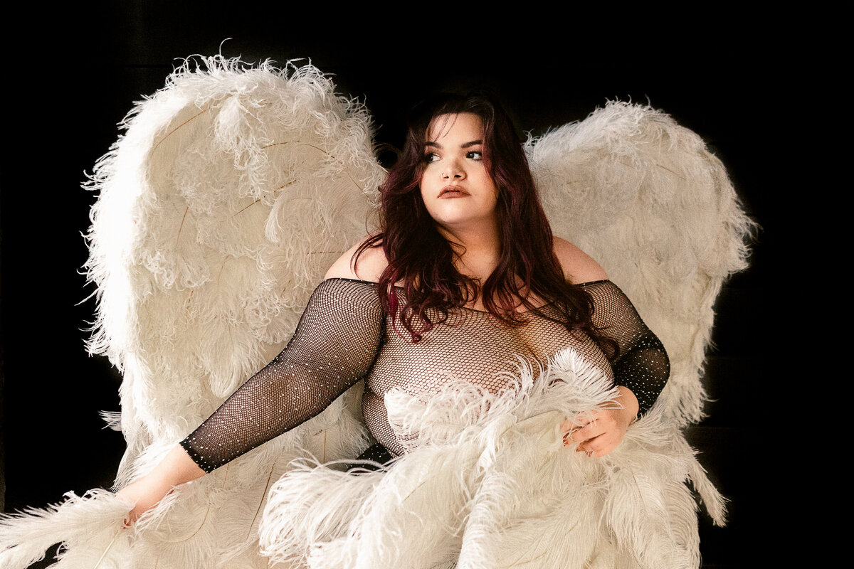 Phoenix Boudoir Photography With Wings - Phoenix Wedding Photographer - Atlas Rose Photography AZ01