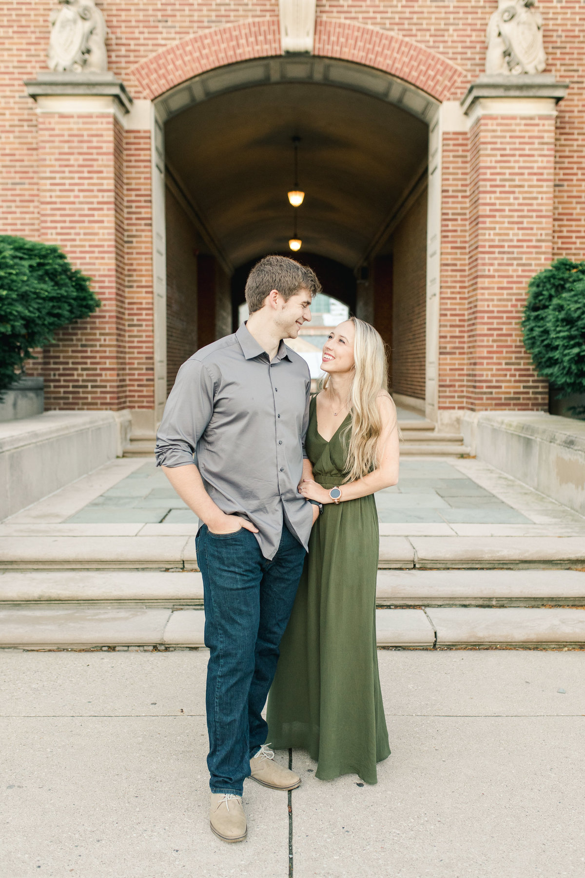 Engagement session at the University of Cincinnati