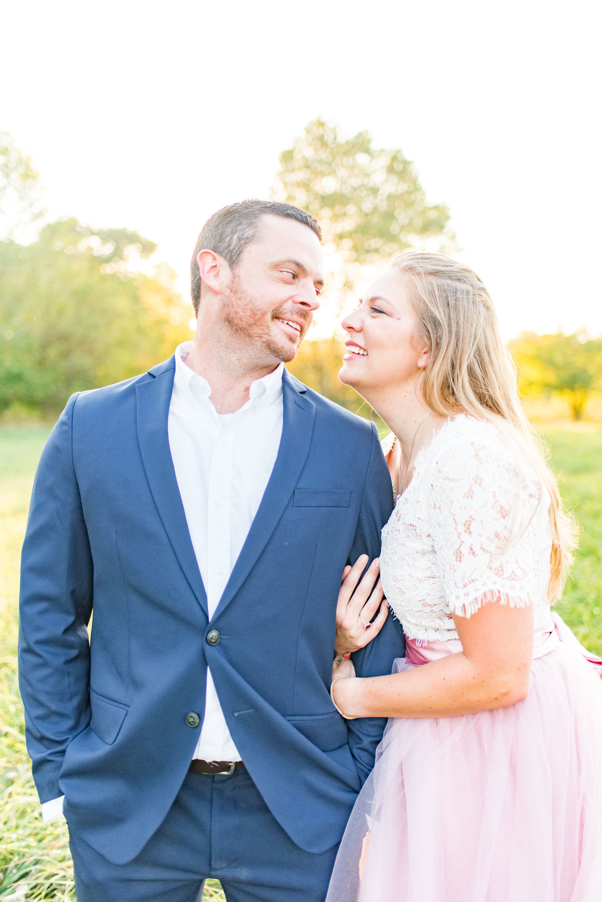 Cait Potter Creative LLC Open Field Rolling Greens Indianapolis Summer Engagement Photos-3
