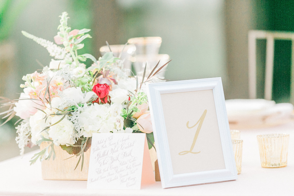 Blush Gold Wedding Decor Details